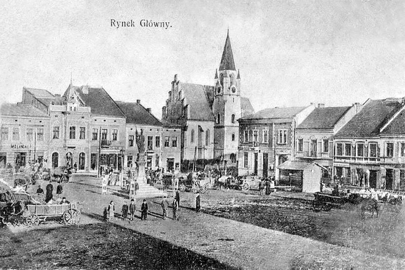 Brzesko na starych pocztówkach