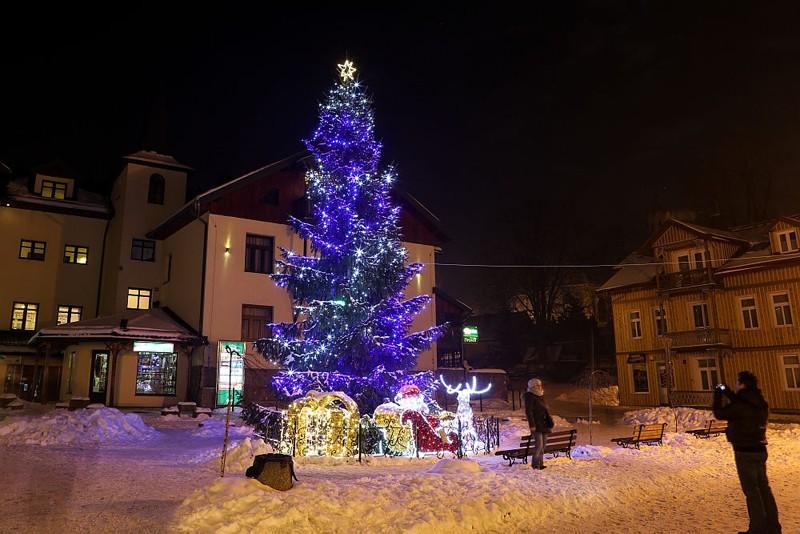Szczawnica w zimowo świątecznej szacie