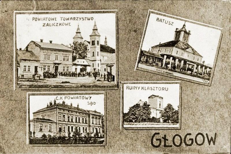 Głogów Małopolski na starych pocztówkach