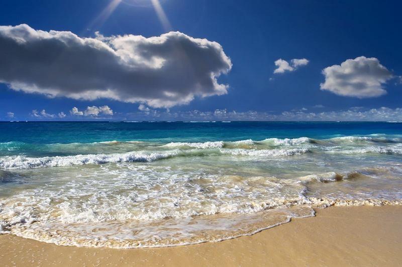 Krynica Morska, morze, piasek i błękit nieba