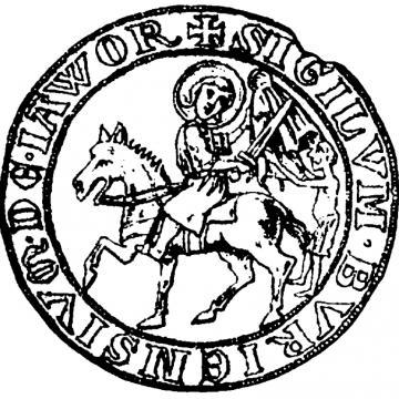 Odcisk pieczęci miasta Jawor z XII w.